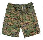 BDU-SHORTS-Woodland Digital Camo